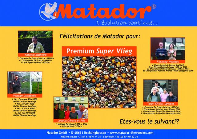 Klik voor een vergroting van Topprestaties Matador